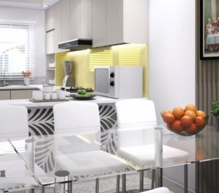 Thiết kế phòng bếp diện tích nhỏ - Chủ đầu tư: Cô Oanh