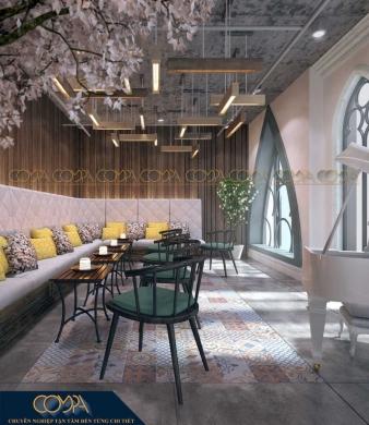 Mẫu thiết kế nội thất quán café phong cách studio_Cafe sân vườn Fly Idea Studio