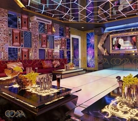 Mẫu thiết kế nội thất phòng karaoke hiện đại phong cách quán Bar