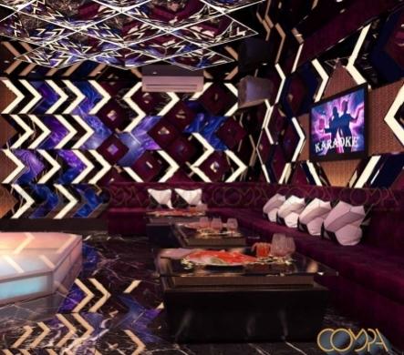 Mẫu thiết kế nội thất phòng karaoke Gia Đình hiện đại