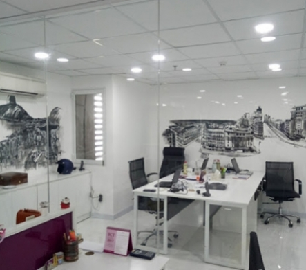 Hình ảnh thi công công thực tế từ thiết kế nội thất văn phòng phong cách Châu Âu