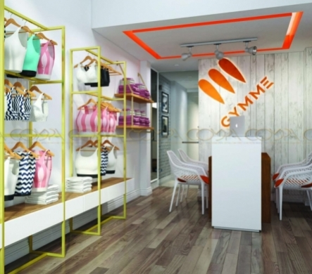 Mẫu thiết kế nội thất Shop thời trang theo phong cách Studio