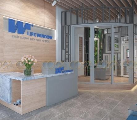 Thiết kế nội thất showroom trụ sở chính Lifewindow