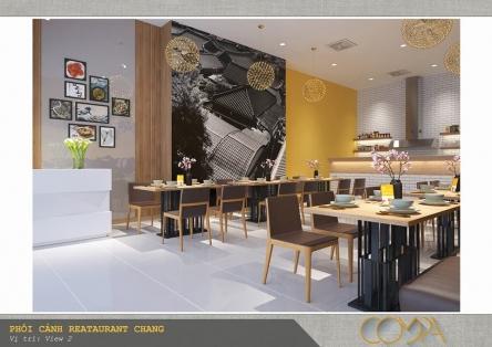 Thiết kế nội thất nhà hàng Hàn Quốc Mr. Chang