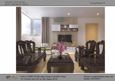 Thiết kế nội thất căn hộ diện tích nhỏ - Căn hộ City Gate A2