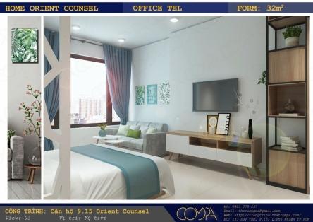 Thiết kế nội thất căn hộ mini - Căn hộ Orient Counsel