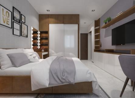 Mẫu thiết kế nội thất phòng ngủ đẹp như mơ của gia đình chị Thanh Châu