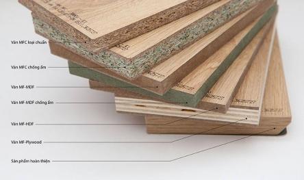 Phân biệt các loại gỗ công nghiệp trong thi công nội thất