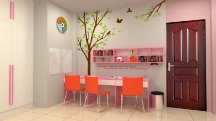 Mẫu thiết kế phòng ngủ cho bé gái cực dễ thương mà bố mẹ nên tham khảo