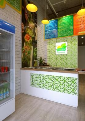 Để lại ấn tượng mạnh với thực khách nhờ thiết kế cửa hàng salad bắt mắt